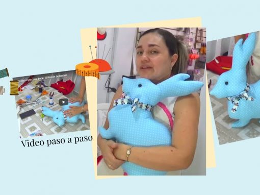 Cojín de conejo en patchwork para bebé